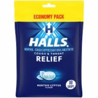 HALLS Relief Mentho-Lyptus Flavor Cough Drops 80 Count