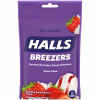 HALLS Breezers Creamy Strawberry Flavor Pectin Drops