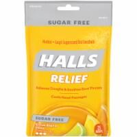 Halls Sugar Free Citrus Blend Flavored Cough Suppressant Drops - 25 ct