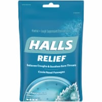 HALLS Relief Ice Peppermint Flavored Menthol Cough Drops 30 Count