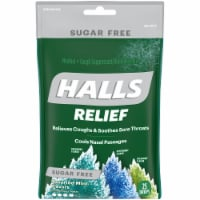HALLS Relief Sugar Free Assorted Mint Flavor Cough Suppressant Drops