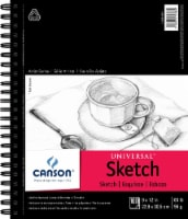 Canson Universal Spiral Sketch Book 9 X12 -100 Sheets - 1