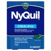 Vicks NyQuil Cold Flu and Congestion Nighttime Multi-Symptom Relief LiquiCaps - 24 ct