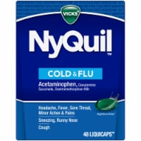 Vicks NyQuil Cold & Flu LiquiCaps - 48 Count