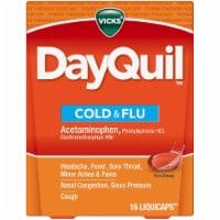 Vicks DayQuil Cold & Flu Multi-symptom Daytime Relief Medicine LiquiCaps - 16 ct