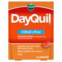 Vicks DayQuil Non-Drowsy Cold & Flu Multi-Symptom Relief LiquiCaps