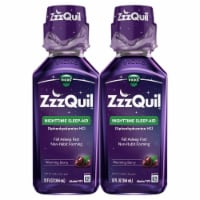 Vicks ZzzQuil Warming Berry Flavor Nighttime Sleep-Aid Liquid