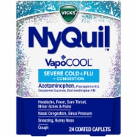 Vicks NyQuil VapoCOOL Severe Cold & Flu Nighttime Relief Coated Caplets - 24 ct