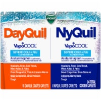 Vicks DayQuil & NyQuil Severe VapoCOOL Cold & Flu Coated Caplets