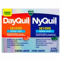 Vicks DayQuil NyQuil Severe Cold & Flu LiquiCaps