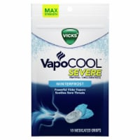 Vicks VapoCOOL SEVERE Medicated Drops Maximum-Strength Relief to Soothe Sore Throat Pain - 18 ct