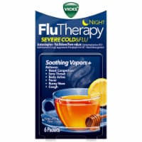 Vicks Night FluTherapy Severe Cold & Flu Honey Lemon Flavor Hot Drink Packets