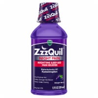 Vicks ZzzQuil Night Pain Midnight Berry Flavor Nighttime Sleep-Aid Pain Reliever