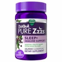 Vicks ZzzQuil Pure Zzz's Sleep + Immune Support Gummies - 42 ct