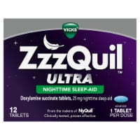 Vicks ZzzQuil Ultra Doxylamine Succinate Nighttime Sleep Aid Tablets 25mg