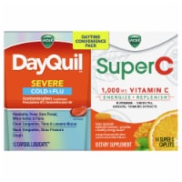 Vicks DayQuil & SuperC Cold & Flu Multi-Symptom Relief Liquicaps/Caplets Daytime Convenience Pack - 26 ct