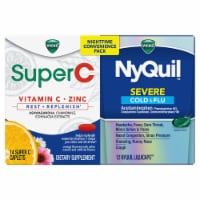 Vicks NyQuil & SuperC Cold & Flu Multi-Symptom Relief Caplets/Liquicaps Nighttime Convenience Pack - 26 ct