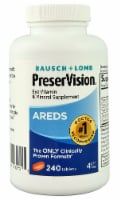 Bausch & Lomb PreserVision AREDS Eye Vitamin & Mineral Supplement Tablets 240 Count