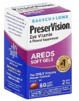 Bausch & Lomb PreserVision Eye Vitamin and Mineral Supplement AREDS Softgels 60 Count