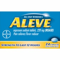 Aleve Naproxen Sodium Pain Reliever/Fever Reducer 220mg Caplets