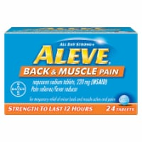 Aleve All Day Strong Back & Muscle Pain Relief Tablets 24 Count