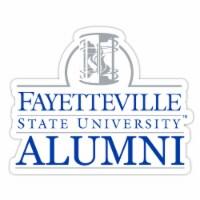 Fayetteville State University 4-Inch Laser Cut Alumni Vinyl Decal Sticker 2-Pack - 1