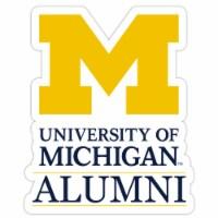 Michigan Wolverines 4-Inch Laser Cut Alumni Vinyl Decal Sticker 2-Pack - 1