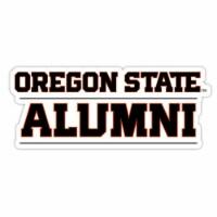 Oregon State Beavers 4-Inch Laser Cut Alumni Vinyl Decal Sticker 2-Pack - 1
