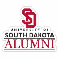 South Dakota Coyotes 4-Inch Laser Cut Alumni Vinyl Decal Sticker 2-Pack - 1