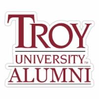 Troy University 4-Inch Laser Cut Alumni Vinyl Decal Sticker 2-Pack - 1