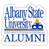 Albany State University 4-Inch Laser Cut Alumni Vinyl Decal Sticker 2-Pack - 1