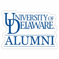 Delaware Blue Hens 4-Inch Laser Cut Alumni Vinyl Decal Sticker 2-Pack - 1