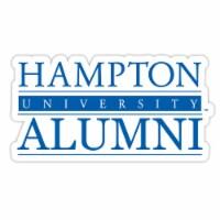 Hampton University 4-Inch Laser Cut Alumni Vinyl Decal Sticker 2-Pack - 1
