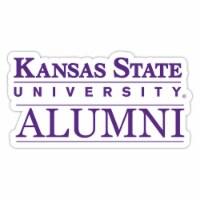 Kansas State Wildcats 4-Inch Laser Cut Alumni Vinyl Decal Sticker 2-Pack - 1