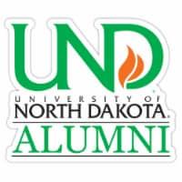 North Dakota Fighting Hawks 4-Inch Laser Cut Alumni Vinyl Decal Sticker 2-Pack - 1