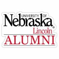 Nebraska Cornhuskers 4-Inch Laser Cut Alumni Vinyl Decal Sticker 2-Pack - 1