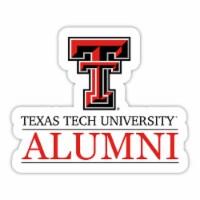 Texas Tech Red Raiders 4-Inch Laser Cut Alumni Vinyl Decal Sticker 2-Pack - 1