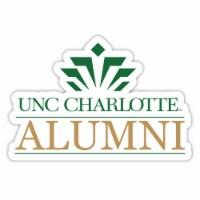 North Carolina Charlotte Forty-Niners 4-Inch Laser Cut Alumni Vinyl Decal Sticker 2-Pack - 1