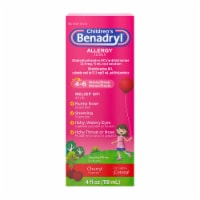 Benadryl Children's Allergy Relief Cherry Liquid 12.5mg