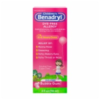 Children's Benadryl Bubble Gum Dye-Free Allergy Liquid