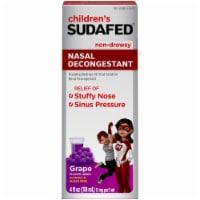Children's Sudafed Non-Drowsy Nasal Decongestant Grape Flavored Liquid