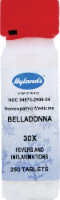 Hyland's Homeopathic Belladonna 30x Fevers & Inflammations Tablets