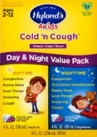 Hyland's 4 Kids Cold 'n Cough Day & Night Grape Flavor Homeopathic Liquid Value Pack