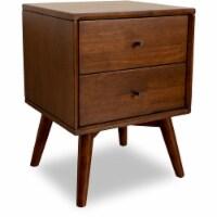 Mid-Century Modern Denver Brown Solid Wood Night Stand in Walnut - 1