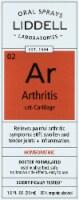 Liddell Laboratories Homeopathic Arthritis Oral Spray