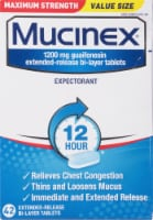 Mucinex Max Strength Chest Congestion Relief Bi-Layer Tablets 1200mg