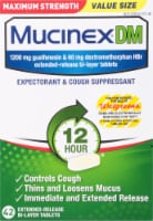 Mucinex DM Maximum Strength 12-Hour Expectorant and Cough Suppressant Tablets - 42 ct