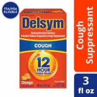 Delsym 12 Hour Relief Orange Flavored Liquid Cough Suppressant