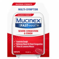 Mucinex Fast-Max Adult Severe Congestion and Cough Multi-Symptom Relief Medicine Caplets