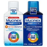 Mucinex Fast-Max Severe Cold & Flu Day/Night Time Liquid Duo Pack 2 Count